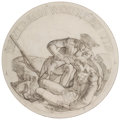 Mainstream Illustration, DEAN CORNWELL (American, 1892-1960). Davidson Wounded 1779.Pencil on paper. 17 x 17 in.. Initialled lower right. Estate...