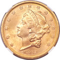 Liberty Double Eagles, 1862-S $20 MS63 NGC. CAC....