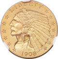 Proof Indian Quarter Eagles, 1908 $2 1/2 PR67 NGC....