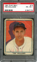 Baseball Cards:Singles (1940-1949), 1941 Play Ball Ted Williams #14 PSA Poor 1....