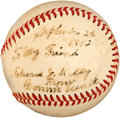 Autographs:Baseballs, 1933 Connie Mack Single Signed Baseball....