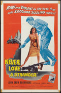 """Movie Posters:Crime, Never Love a Stranger (Allied Artists, 1958). One Sheet (27"""" X41""""). Crime.. ..."""