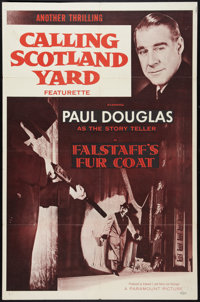 "Calling Scotland Yard (Paramount, 1956). One Sheet (27"" X 41""). Episode 9 -- ""Falstaff's Fur Coat.""..."