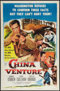 "Movie Posters:War, China Venture (Columbia, 1953). One Sheet (27"" X 41""). War.. ..."