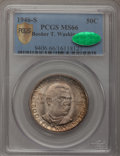 Commemorative Silver, 1946-S 50C Booker T. Washington MS66 PCGS Secure. CAC. PCGSPopulation (346/52). NGC Census: (379/73). Mintage: 500,279. Nu...