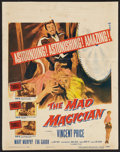 "Movie Posters:Horror, The Mad Magician (Columbia, 1954). Window Card (14"" X 17.5""). Horror.. ..."