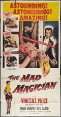 """Movie Posters:Horror, The Mad Magician (Columbia, 1954). Three Sheet (41"""" X 81""""). Horror.. ..."""