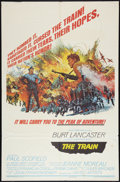 "Movie Posters:War, The Train (United Artists, 1965). One Sheet (27"" X 41""). Style B.War.. ..."