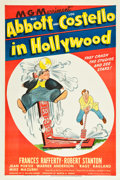 "Movie Posters:Comedy, Abbott and Costello in Hollywood (MGM, 1945). One Sheet (27"" X41"").. ..."