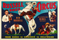 """Movie Posters:Western, Reb Russell Circus Poster (Russell Brothers, 1938). Circus Poster (28.25' X 42"""").. ... (Total: 2 Items)"""