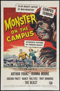 """Monster on the Campus (Universal International, 1958). One Sheet (27"""" X 41""""). Horror"""