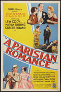 "Movie Posters:Drama, A Parisian Romance (Allied Pictures, 1932). One Sheet (27"" X 41""). Style B. Drama.. ..."
