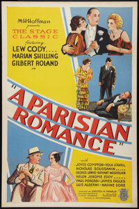 """A Parisian Romance (Allied Pictures, 1932). One Sheet (27"""" X 41""""). Style B. Drama"""