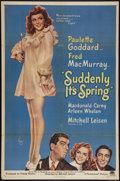 "Movie Posters:Comedy, Suddenly It's Spring (Paramount, 1946). One Sheet (27"" X 41""). Comedy.. ..."