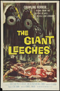 """Movie Posters:Horror, The Giant Leeches (American International, 1959). One Sheet (27"""" X 41""""). Horror.. ..."""