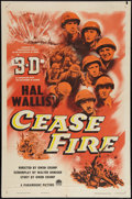"""Movie Posters:War, Cease Fire! (Paramount, 1953). One Sheet (27"""" X 41""""). 3-D Style.War.. ..."""