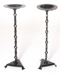 Other:European, THE COLLECTION OF PAUL GREGORY AND JANET GAYNOR. A PAIR OFBAROQUE-STYLE WROUGHT-IRON PICKETS . Spanish, circa 1960. 2...(Total: 2 Items)