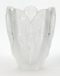Art Glass:Lalique, A FRENCH FIGURAL FROSTED GLASS VASE . Lalique, Paris, France, post1945. Marks: Lalique France. 11-1/8 inches high (28.3...