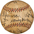 Autographs:Baseballs, 1932 Chicago Cubs Partial Team Signed Baseball....