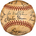 Autographs:Baseballs, 1935 Chicago Cubs Team Signed Baseball....