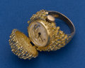 Timepieces:Other , LeCoultre 14k Gold Ring Watch Needing Top Hinge Repair. ...
