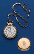 Timepieces:Pocket (post 1900), Illinois 21 Jewel Bunn Special Pocket Watch With Chain. ...