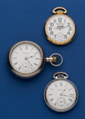 Timepieces:Pocket (post 1900), Three Running Pocket Watches. ... (Total: 3 Items)
