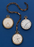 Timepieces:Pocket (post 1900), Three 17 Jewel Running Pocket Watches. ... (Total: 3 Items)