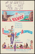 "Movie Posters:Elvis Presley, Fun in Acapulco (Paramount, 1963). Window Card (14"" X 22""). ElvisPresley.. ..."