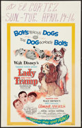"""Movie Posters:Animation, Lady and the Tramp/Almost Angels Combo (Buena Vista, R-1962).Window Card (14"""" X 22""""). Animation.. ..."""
