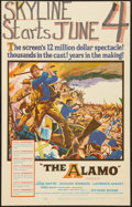 "Movie Posters:Western, The Alamo (United Artists, 1960). Window Card (14"" X 22""). Western.. ..."