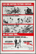 """Movie Posters:James Bond, Thunderball/You Only Live Twice Combo (United Artists, R-1971). OneSheet (27"""" X 41""""). James Bond.. ..."""