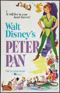 "Movie Posters:Animated, Peter Pan (Buena Vista, R-1958). One Sheet (27"" X 41""). Animated....."