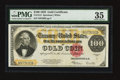 Large Size:Gold Certificates, Fr. 1215 $100 1922 Gold Certificate PMG Choice Very Fine 35.. ...