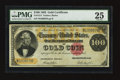 Large Size:Gold Certificates, Fr. 1214 $100 1882 Gold Certificate PMG Very Fine 25.. ...