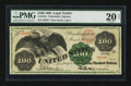 Large Size:Legal Tender Notes, Fr. 167a $100 1863 Legal Tender PMG Very Fine 20 Net.. ...