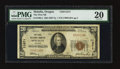National Bank Notes:Oregon, Molalla, OR - $20 1929 Ty. 1 The First NB Ch. # 11271. ...