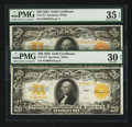 Large Size:Gold Certificates, Fr. 1187 $20 1922 Gold Certificate PMG Choice Very Fine 35 EPQ, Very Fine 30 EPQ.. ... (Total: 2 notes)