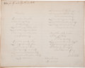"Autographs:Authors, Samuel Francis Smith Complete ""America"" Autograph ManuscriptSigned, ""S. F. Smith"". One page, 9.75"" x 7.75"", n.p., May..."