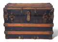 Miscellaneous, THE COLLECTION OF PAUL GREGORY AND JANET GAYNOR. A WOODBOUND STEAMER TRUNK . Probably British, late 19th century. 19-...