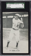 Baseball Cards:Singles (Pre-1930), 1907 Wolverine News Ty Cobb, Batting SGC 40 VG 3. ...
