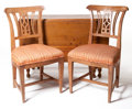 Furniture , The Collection of Paul Gregory and Janet Gaynor. A PAIR OF DIRECTOIRE FRUITWOOD SIDE CHAIRS TOGETHER WITH AN AMERICAN DR... (Total: 3 Items)