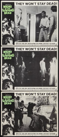 """Movie Posters:Horror, Night of the Living Dead (Continental, 1968). Lobby Cards (3) (11"""" X 14""""). Horror.. ... (Total: 3 Items)"""
