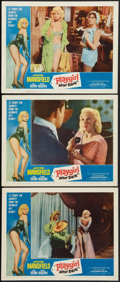 "Movie Posters:Sexploitation, Playgirl After Dark (Topaz, 1961). Lobby Cards (3) (11"" X 14"").Sexploitation.. ... (Total: 3 Items)"