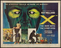 """X - The Man with the X-Ray Eyes (American International, 1963). Half Sheet (22"""" X 28""""). Science Fiction"""