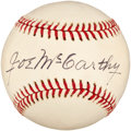 Autographs:Baseballs, 1970's Joe McCarthy Single Signed Baseball....