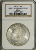 1885-CC $1 MS66 NGC. Softly struck in the centers, but highly lustrous with brilliant surfaces that have a richly frosty...