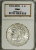 Morgan Dollars: , 1900-O/CC $1 MS64 NGC. VAM-8. A Top 100 Variety. A lustrous and untoned near-Gem with boldly ...