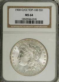 1900-O/CC $1 MS64 NGC. VAM-8. A Top 100 Variety. A lustrous and untoned near-Gem with boldly struck devices. A few marks...