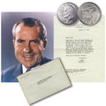 Eisenhower Dollars: , 1971-S $1 Silver MS65 Uncertified. This coin was presented (by mail) from Richard Nixon to Re...
